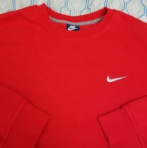 Vintage Nike Embroidered Swoosh Crewneck Orange